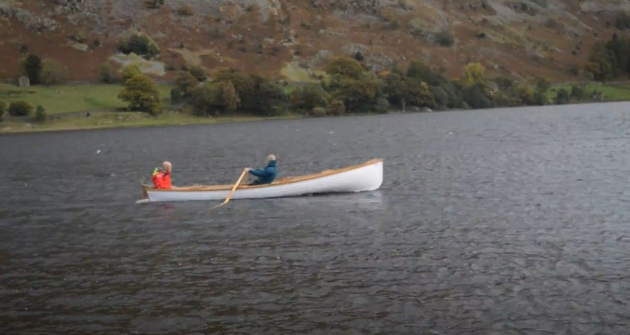 Skur Boats 18ft row boat on Lake Ullswater